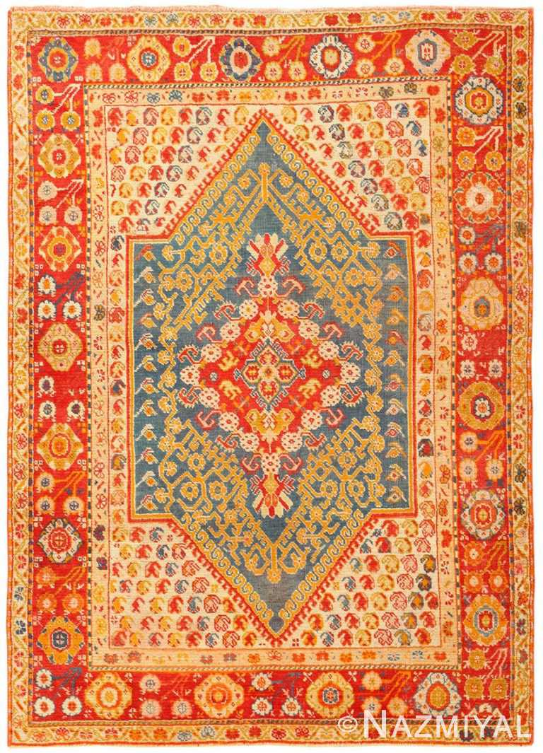 Beautiful Antique Turkish Oushak Rug 50710 Nazmiyal Antique Rugs