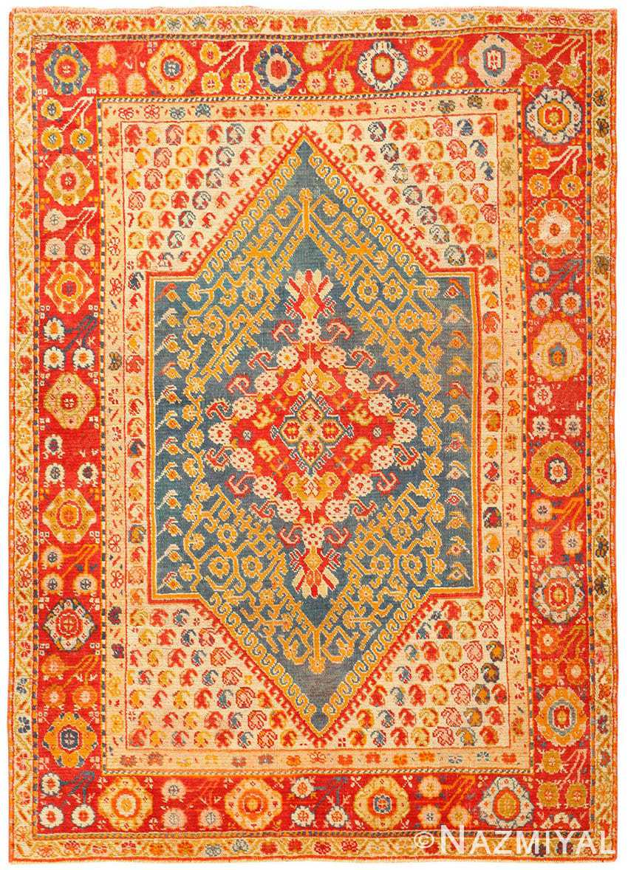 Beautiful Antique Turkish Oushak Rug 50710 Nazmiyal
