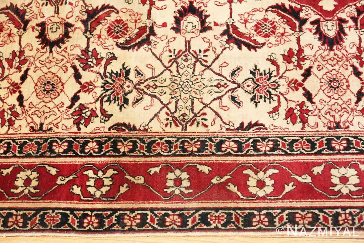 Border Antique Indian Agra rug 50709 by Nazmiyal