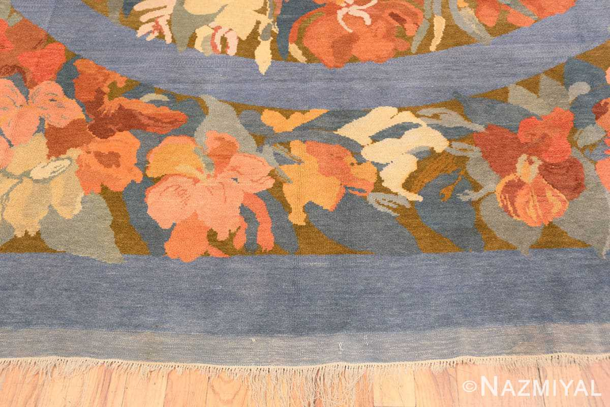 Border Vintage French Art Deco rug 49008 by Frédéric Marius de Buzon by Nazmiyal collection.