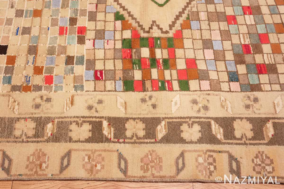 Border Whimsical Tribal Persian Gabbeh rug 48814 by Nazmiyal