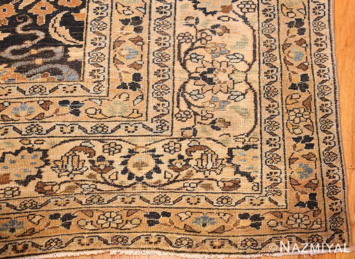 charcoal gray persian khorassan rug 48913 corner Nazmiyal