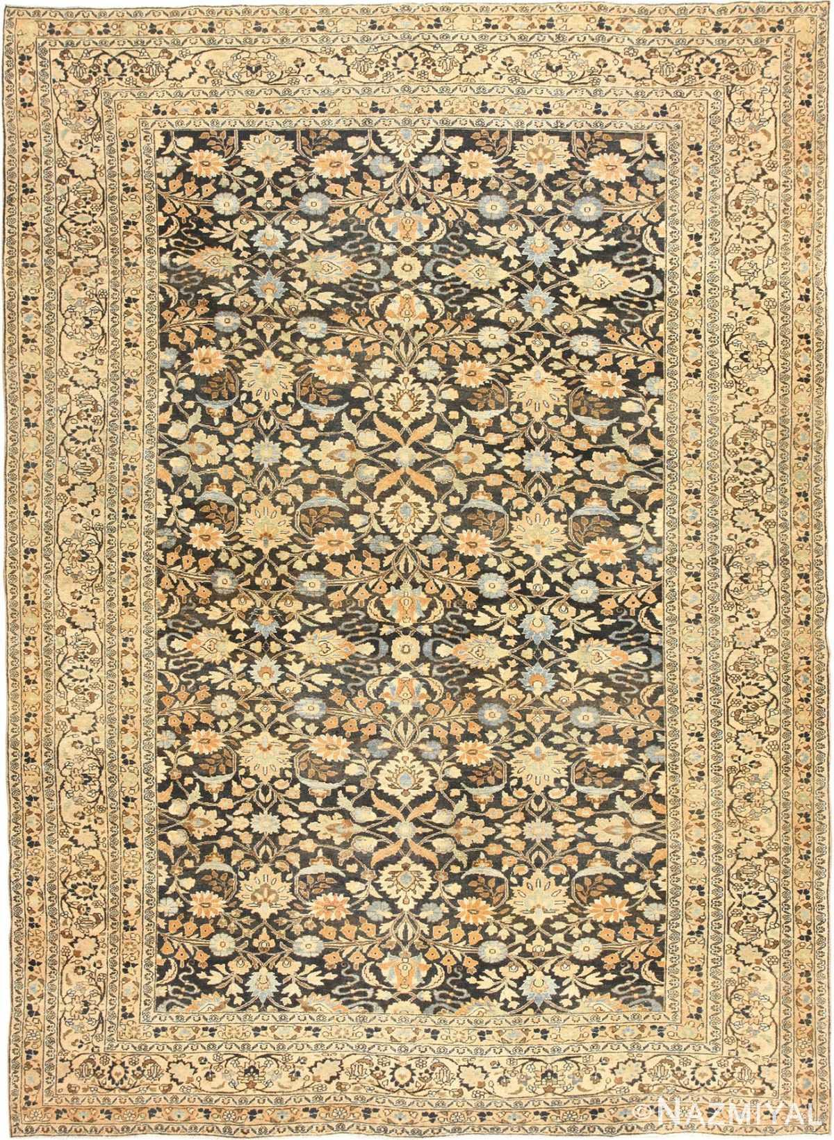 Charcoal Grey Antique Persian Khorassan Rug 48913