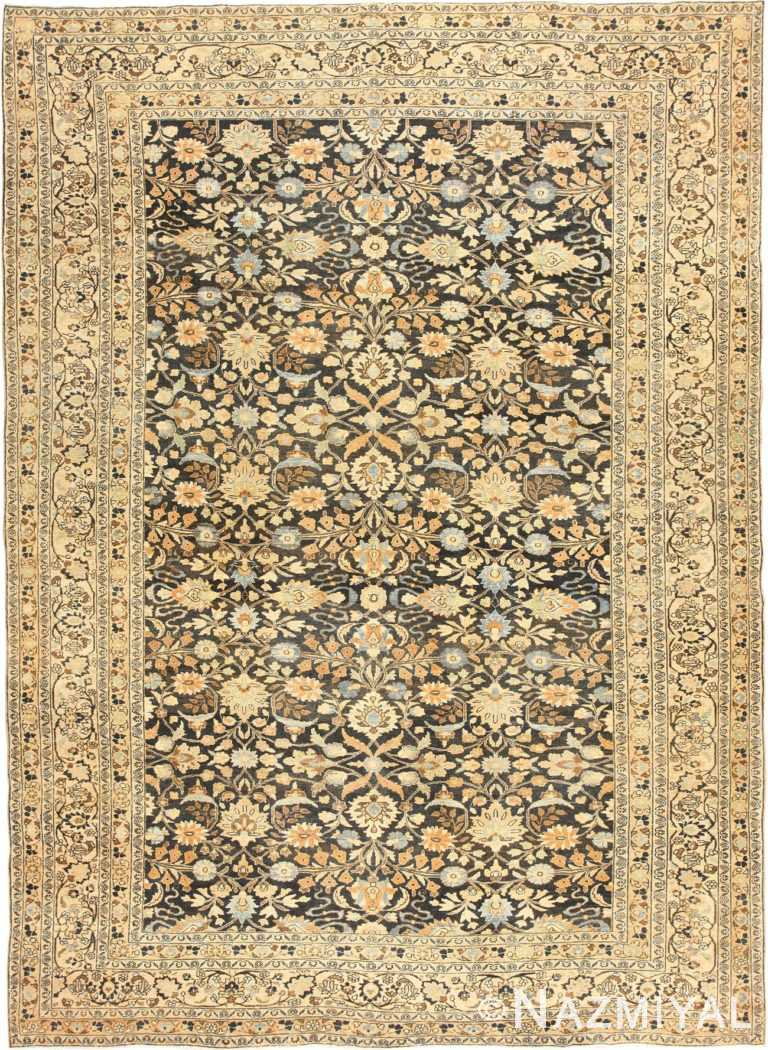 Charcoal Grey Antique Persian Khorassan Rug 48913