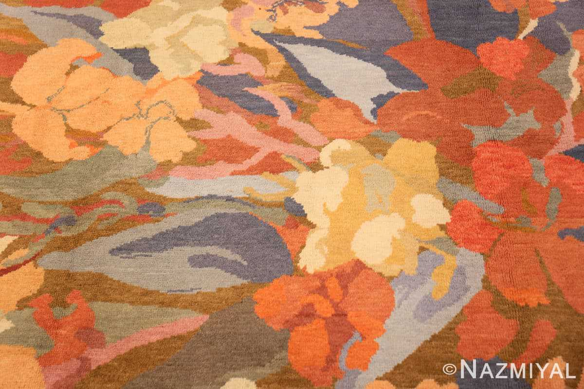 Close-up Vintage French Art Deco rug 49008 by Frédéric Marius de Buzon by Nazmiyal collection.