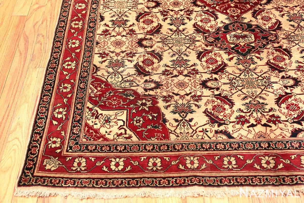 Corner Antique Indian Agra rug 50709 by Nazmiyal