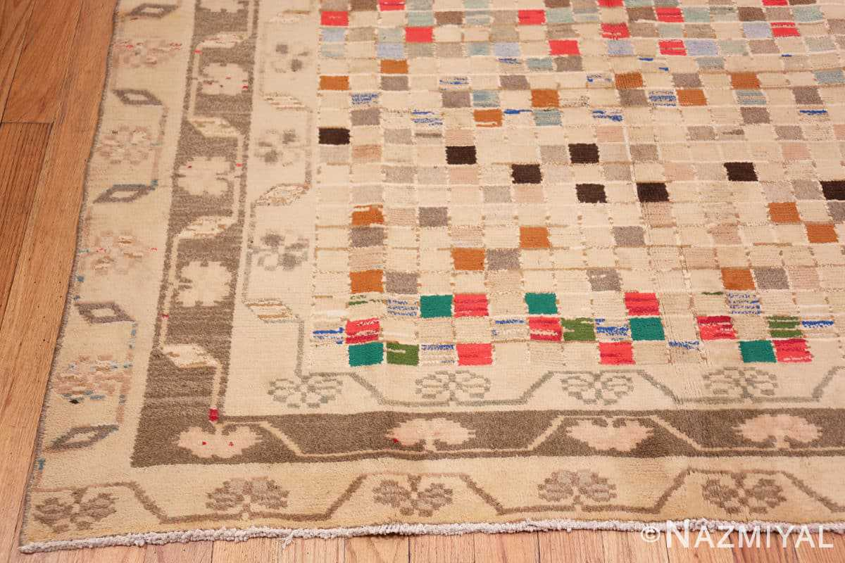 Corner Whimsical Tribal Persian Gabbeh rug 48814 by Nazmiyal