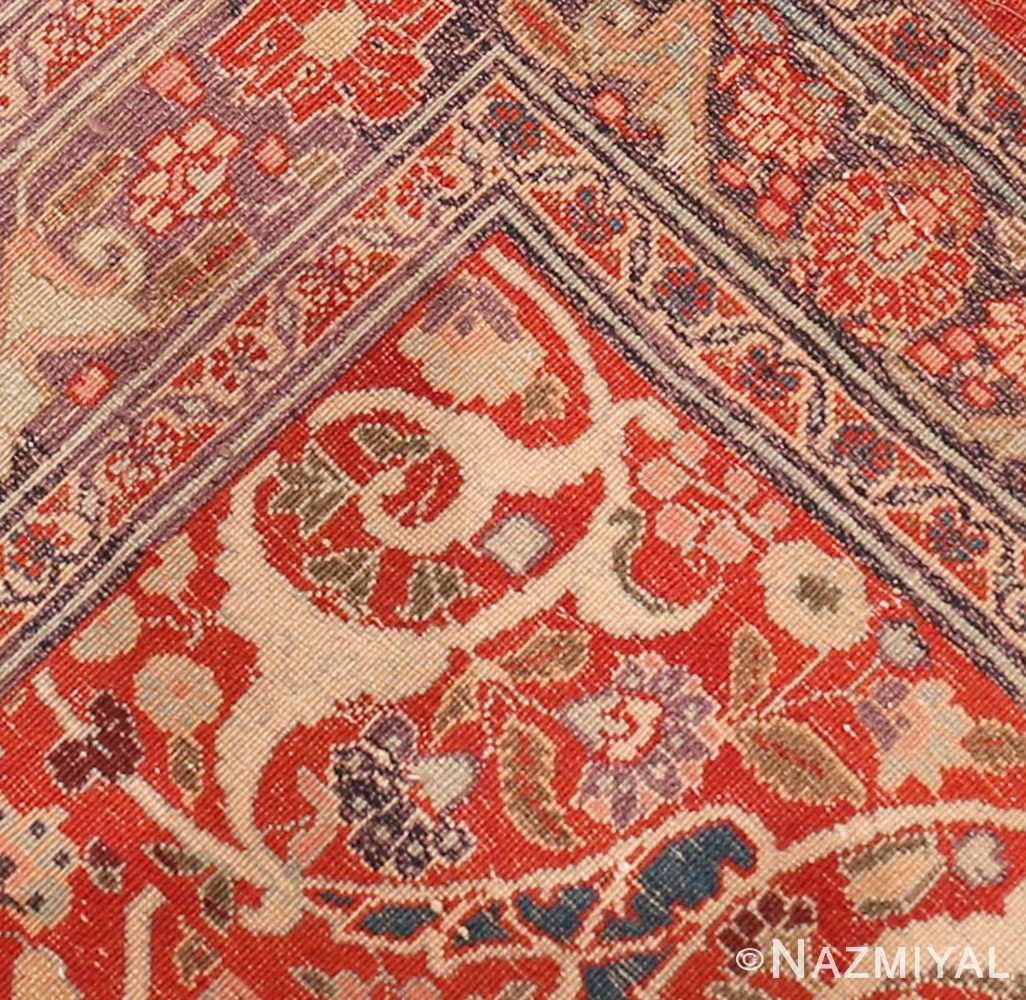 Back detail antique Persian Tabriz rug 50657 by Nazmiyal