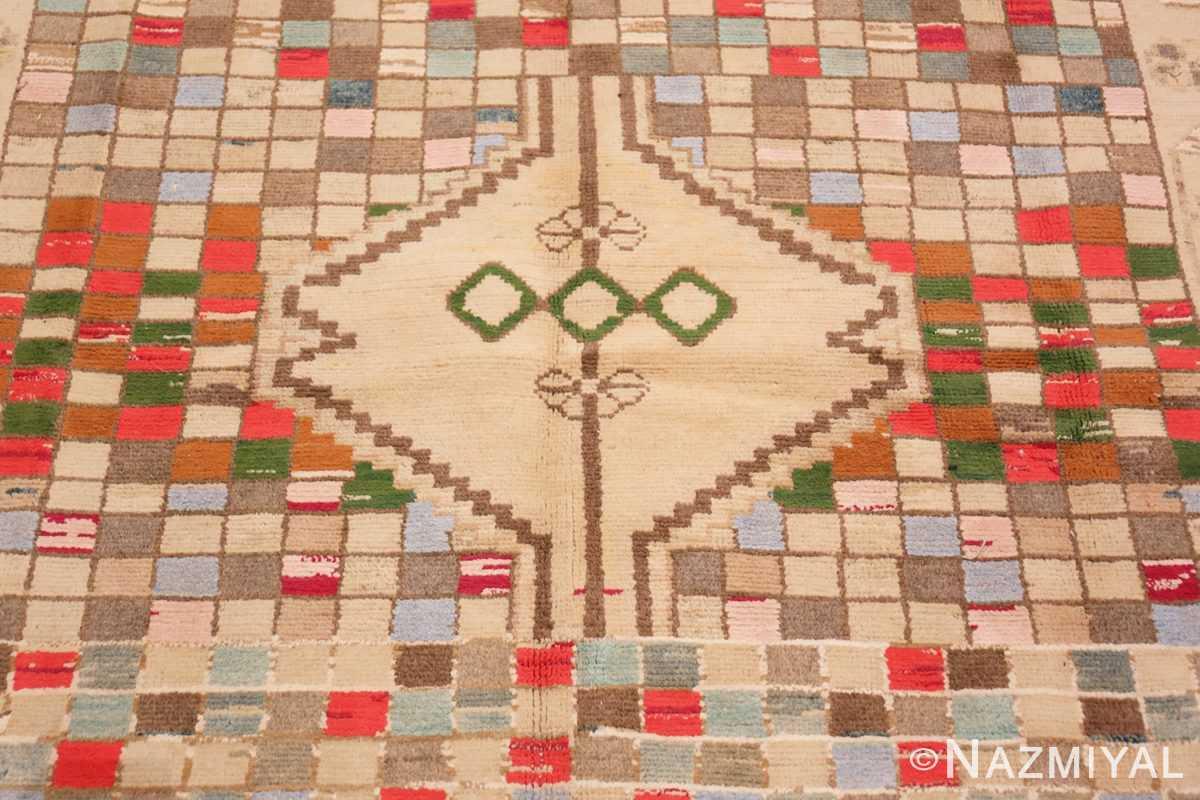 Detail Whimsical Tribal Persian Gabbeh rug 48814 by Nazmiyal