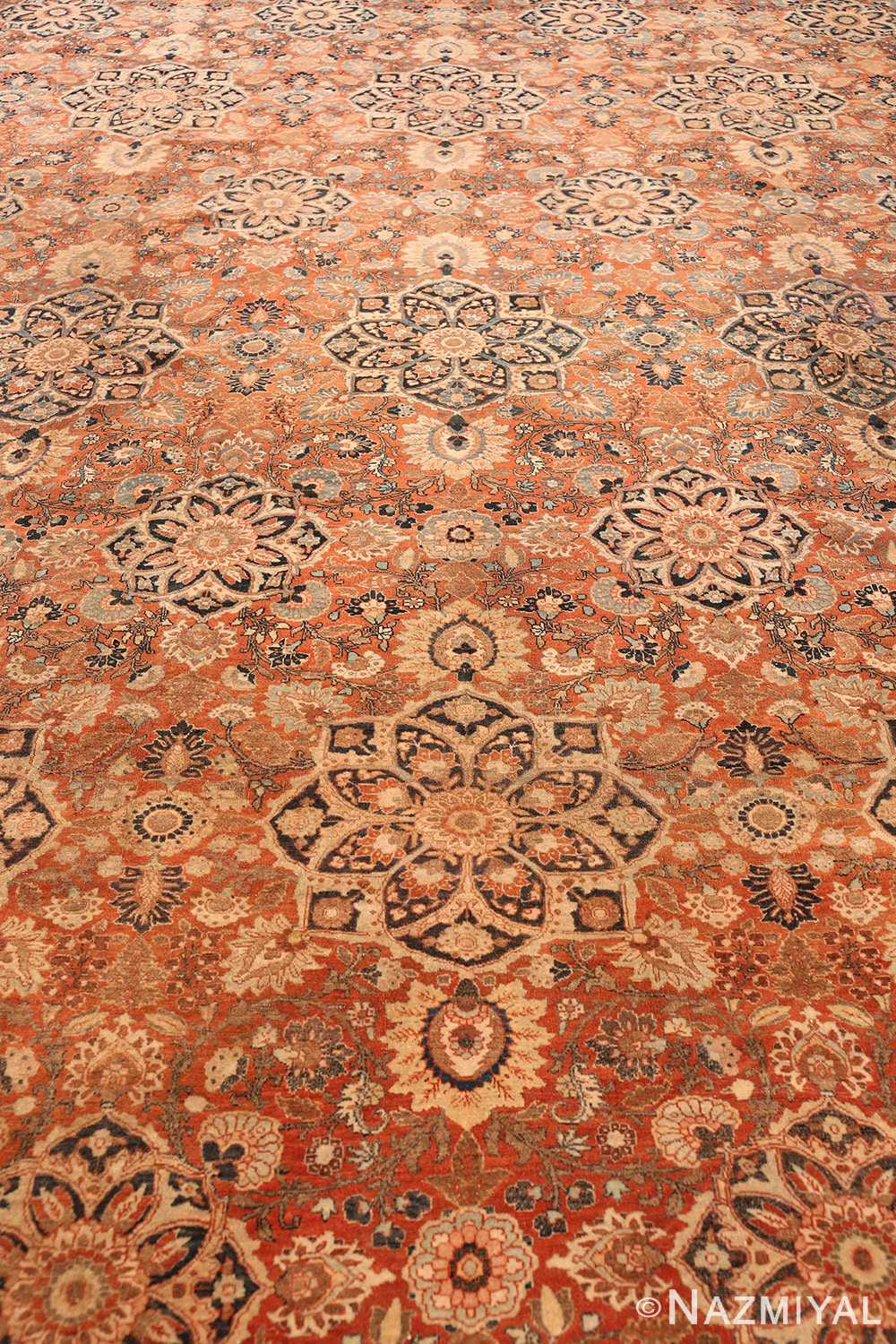 Field antique Persian Tabriz rug 50657 by Nazmiyal