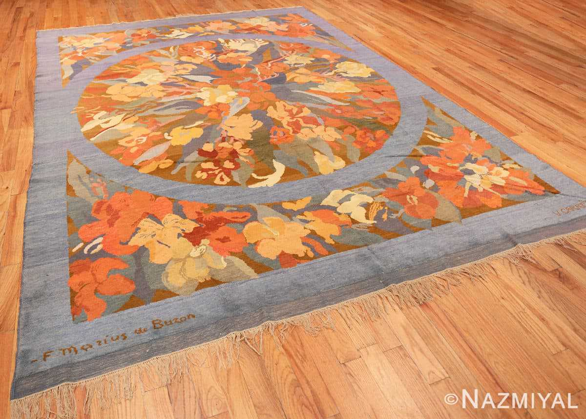 Full Vintage French Art Deco rug 49008 by Frédéric Marius de Buzon by Nazmiyal collection.