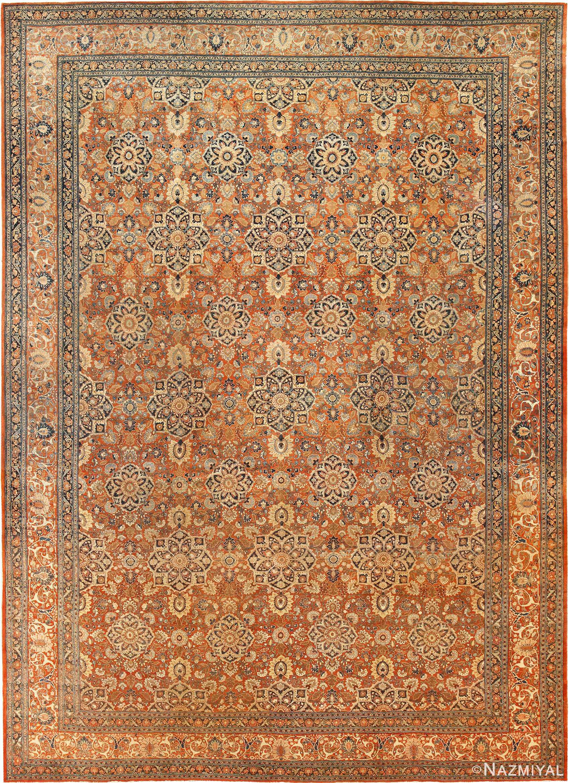 Large Antique Persian Tabriz Rug by Nazmiyal