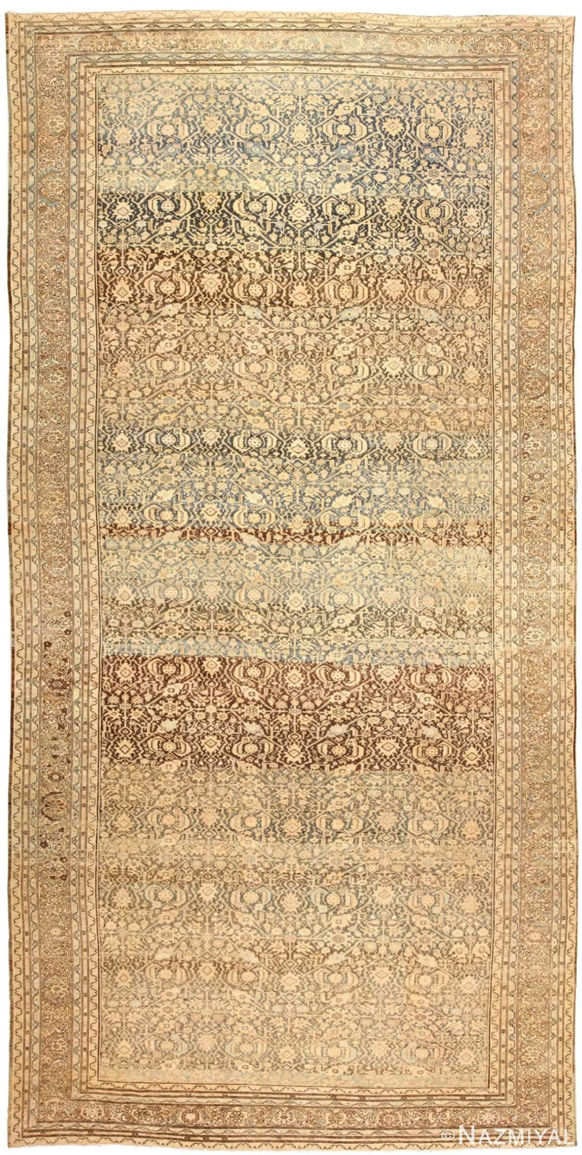 Large Oversized Antique Persian Malayer Rug 48889 Nazmiyal