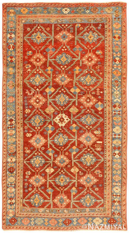 Red Tribal Antique Caucasian Shirvan Rug 50695 Nazmiyal