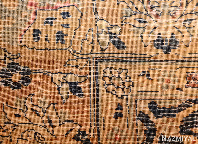 royal blue background antique indian rug 48631 weave Nazmiyal