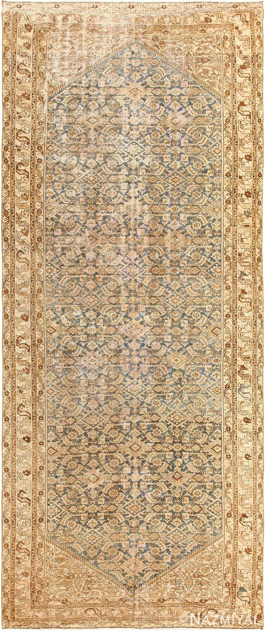 Shabby Chic Light Blue Persian Malayer Rug 50420