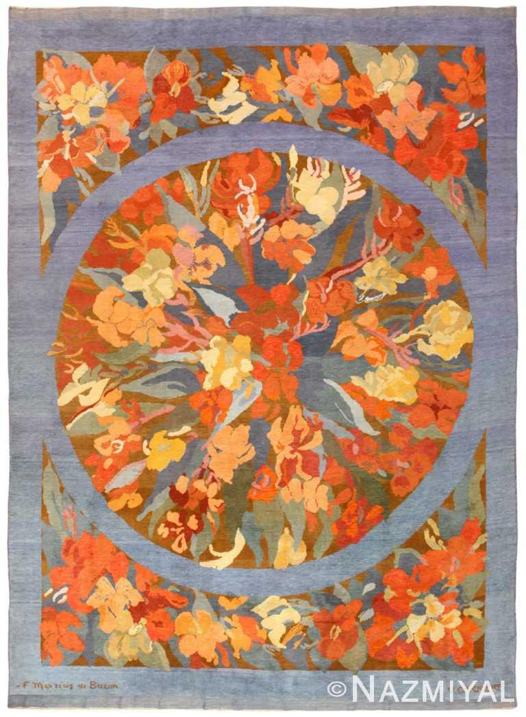 Vintage French Art Deco Rug Frederic Marius de Buzon 49008