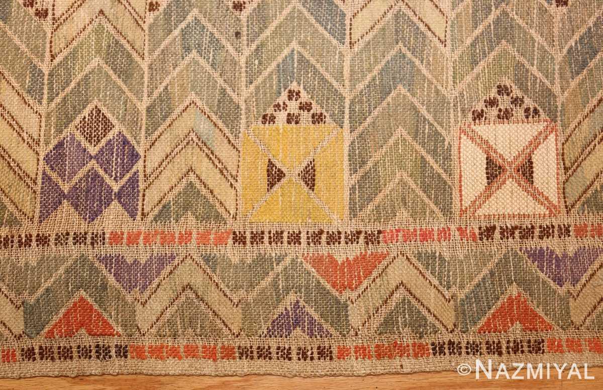 vintage swedish kilim rug by marta maas 49029 border Nazmiyal