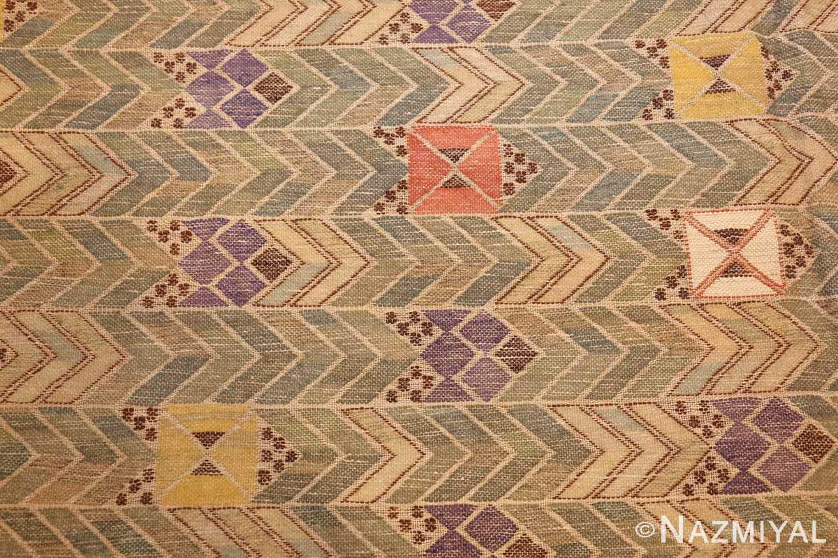vintage swedish kilim rug by marta maas 49029 field Nazmiyal