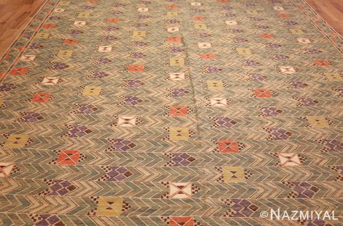vintage swedish kilim rug by marta maas 49029 full Nazmiyal