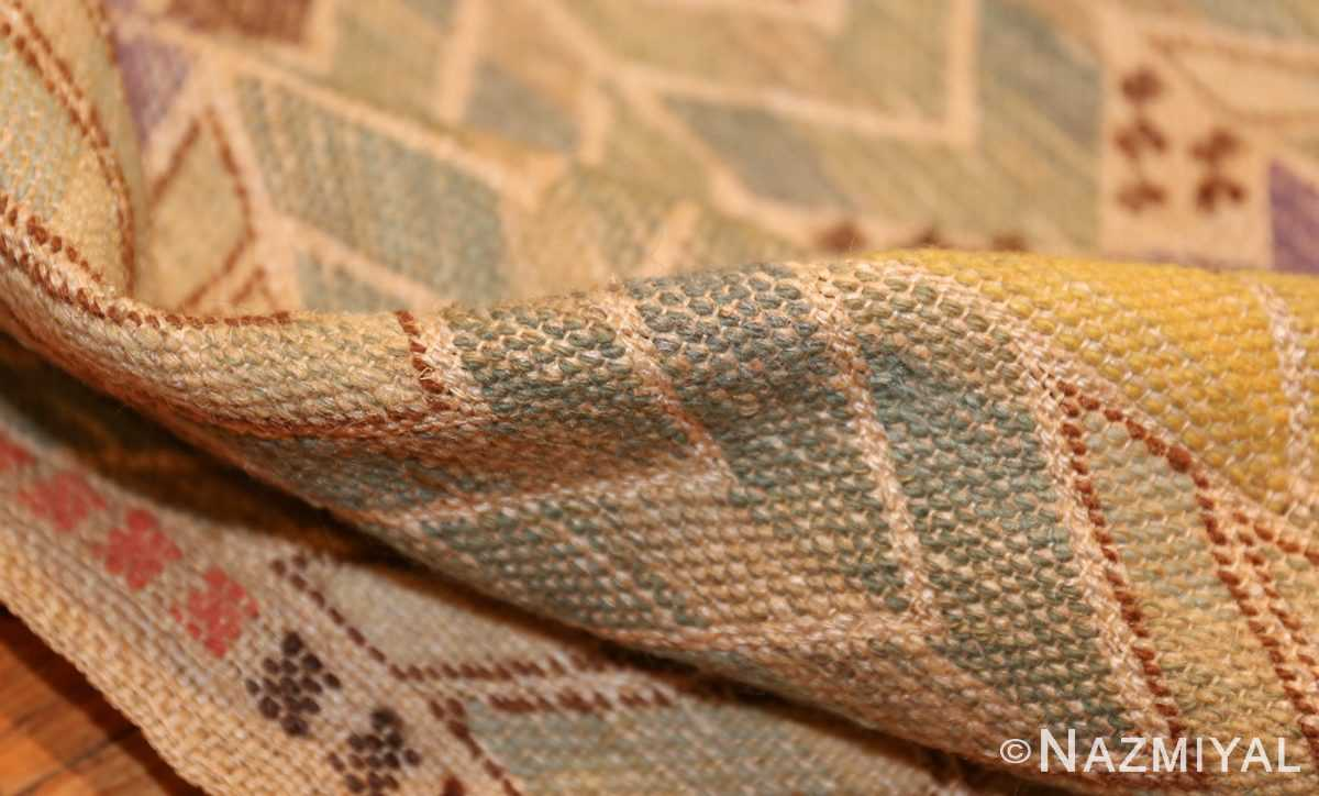 vintage swedish kilim rug by marta maas 49029 pile Nazmiyal