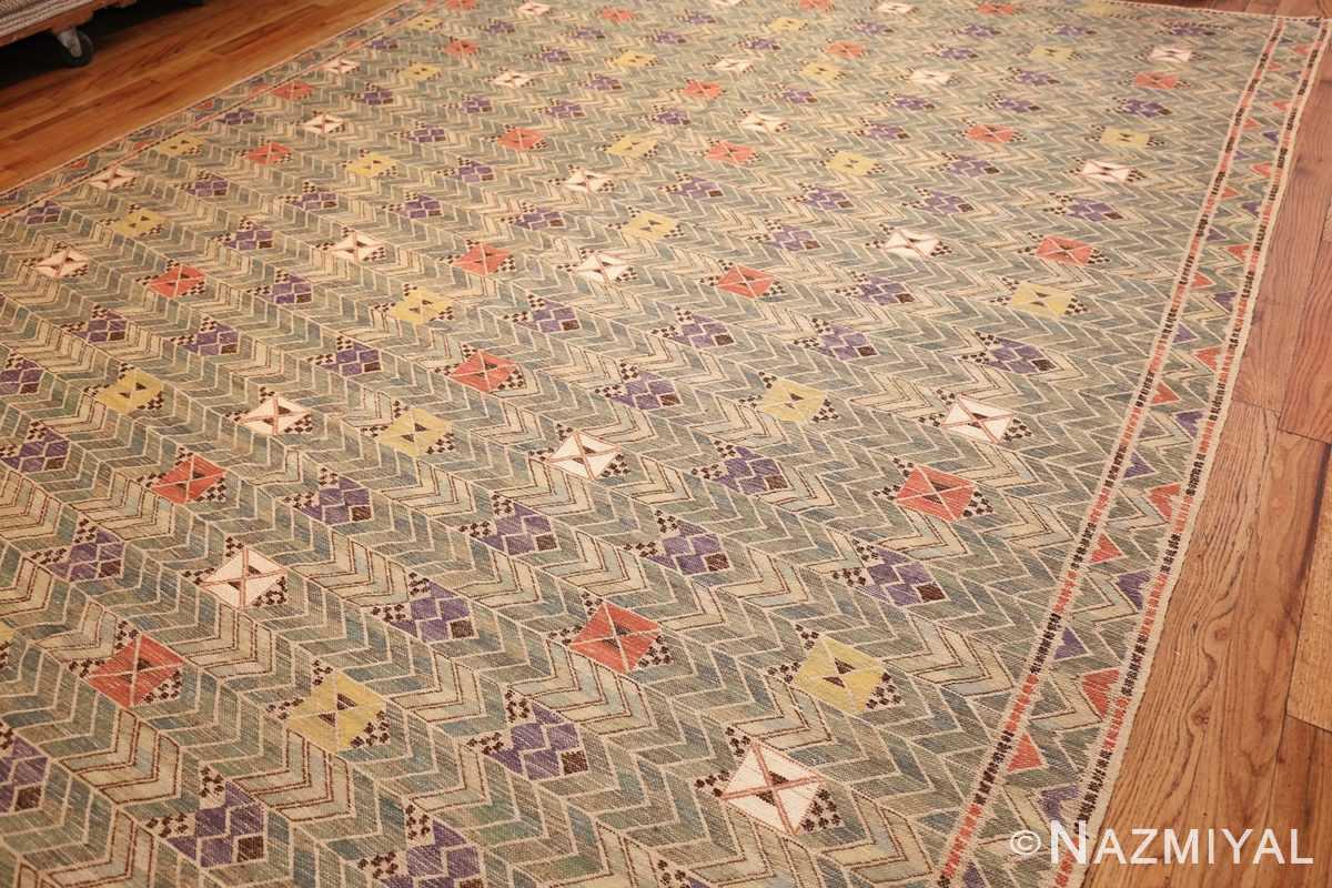 vintage swedish kilim rug by marta maas 49029 side Nazmiyal