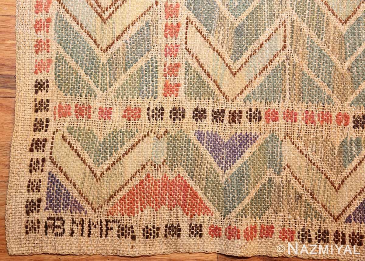 vintage swedish kilim rug by marta maas 49029 signature Nazmiyal