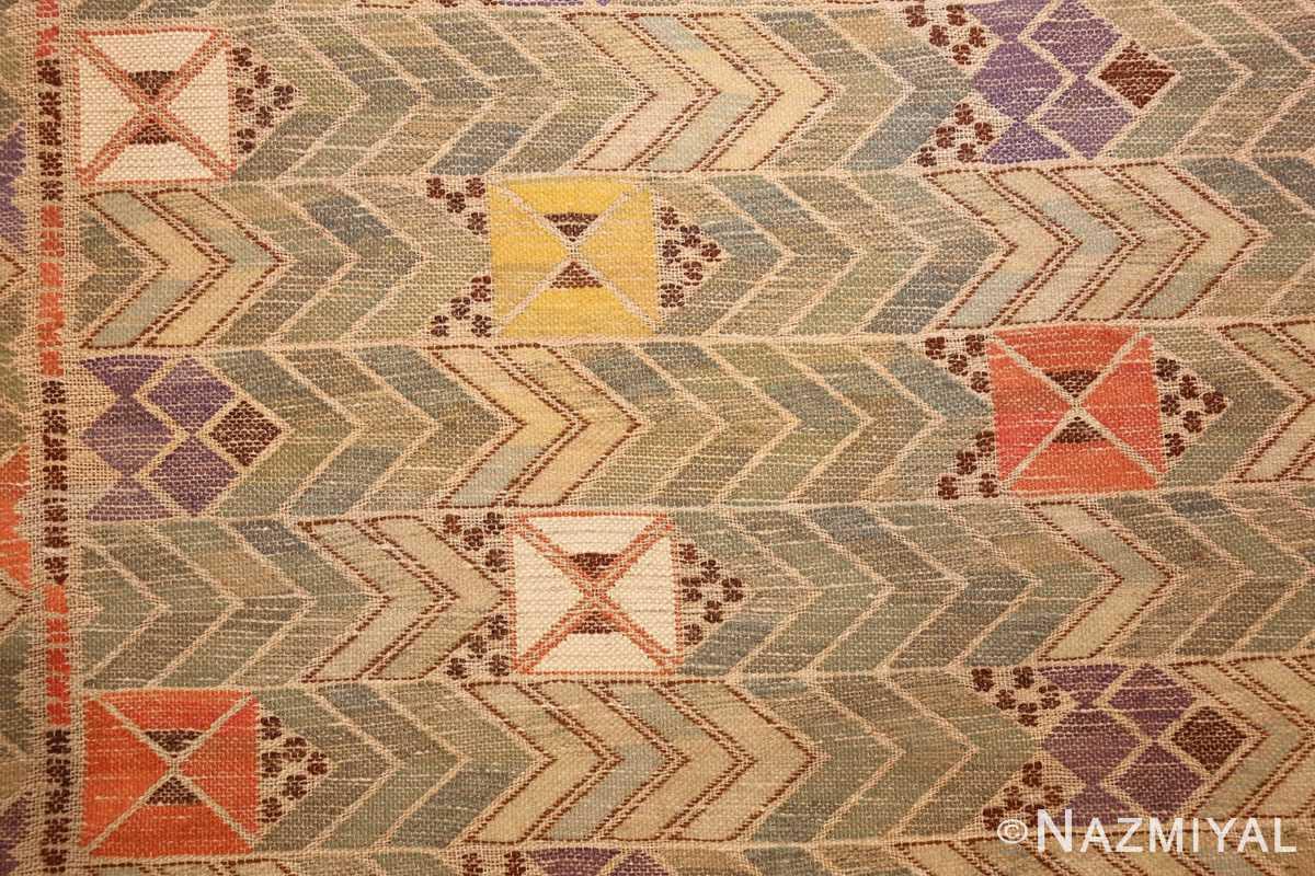 vintage swedish kilim rug by marta maas 49029 style Nazmiyal