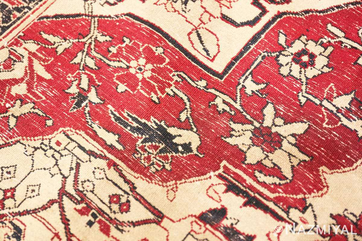 Weave detail Antique Indian Agra rug 50709 by Nazmiyal