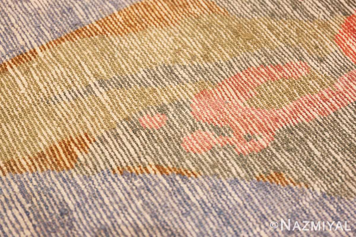 Weave detail Vintage French Art Deco rug 49008 by Frédéric Marius de Buzon by Nazmiyal collection.