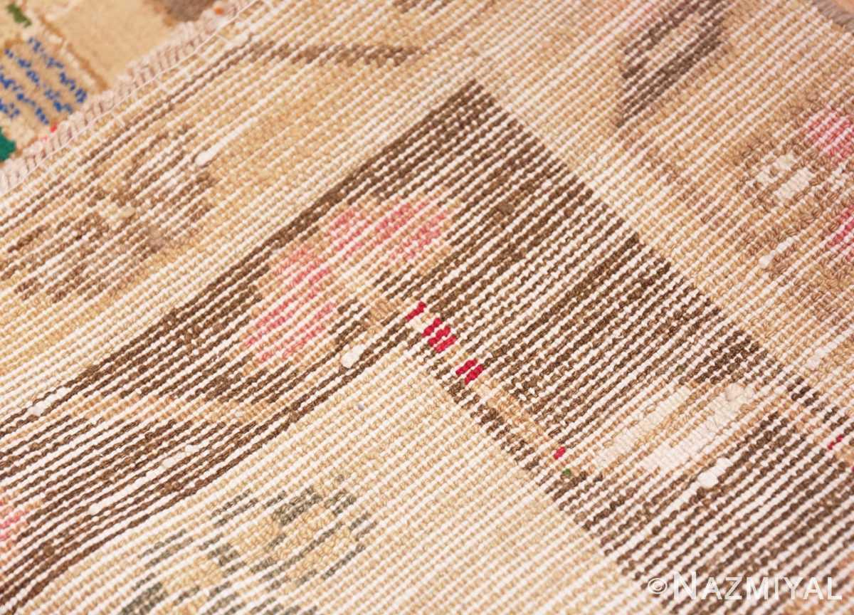 Weave detail Whimsical Tribal Persian Gabbeh rug 48814 by Nazmiyal