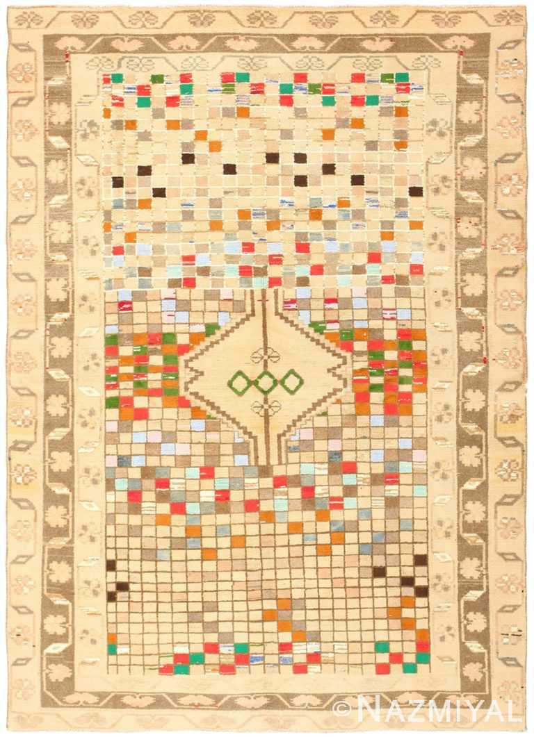 Whimsical Tribal Persian Gabbeh Rug 48814