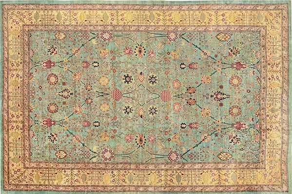 Remarkable Antique Agra Indian Rug