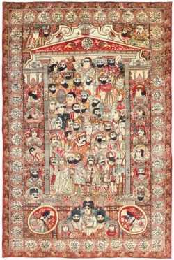 Pictorial Antique Persian Mashahir Carpets