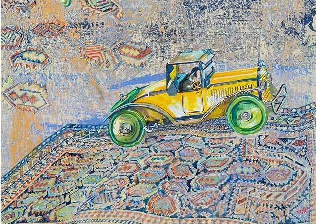 Green Wheels From David Schorr Flying Carpets Series Nazmiyal