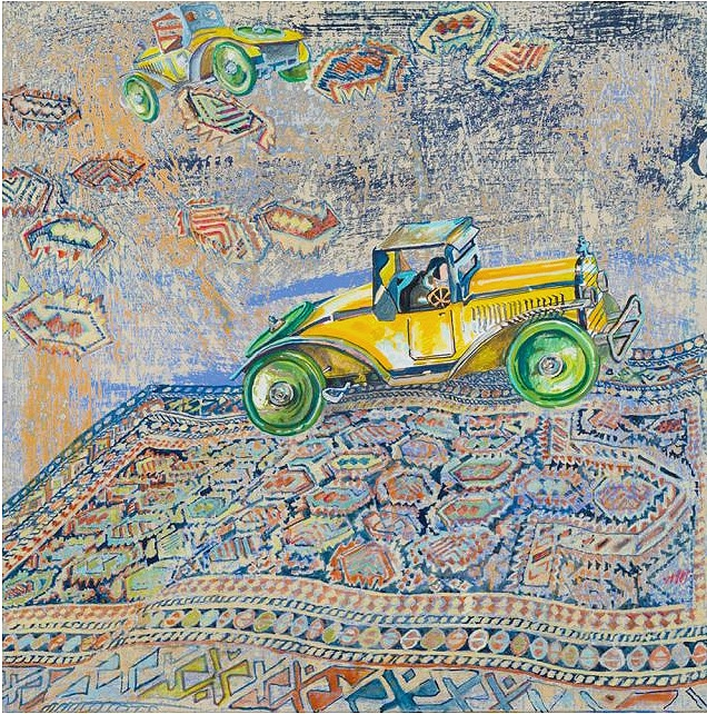 Green Wheels From David Schorr Flying Carpets Series Nazmiyal