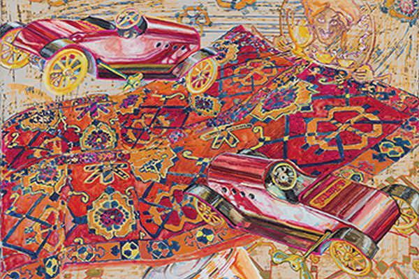 From David Schorr Flying Carpets Series - Nazmiyal