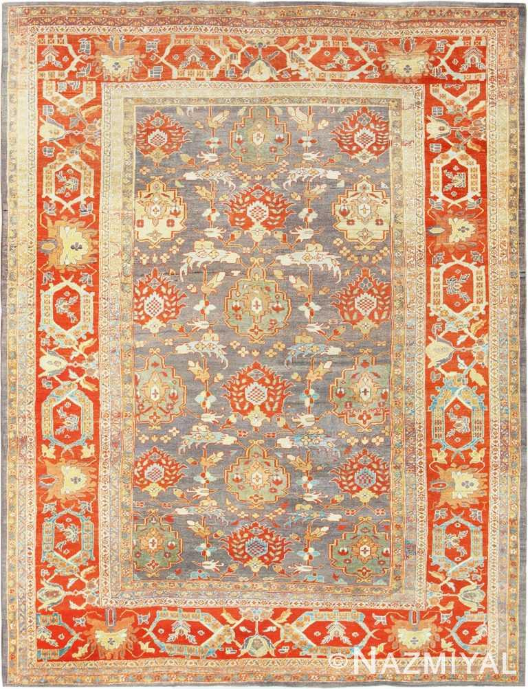 Nazmiyal's Gray Antique Persian Sultanabad Rug 49032