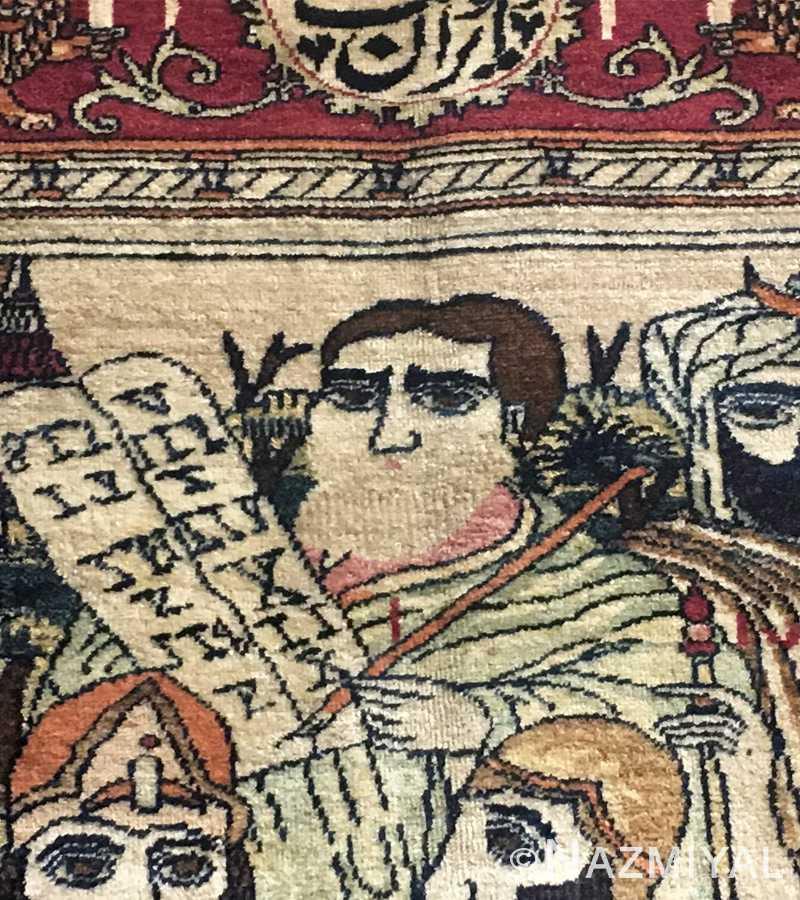 Antique Persian Kashan Rug 49063 Detailed 2