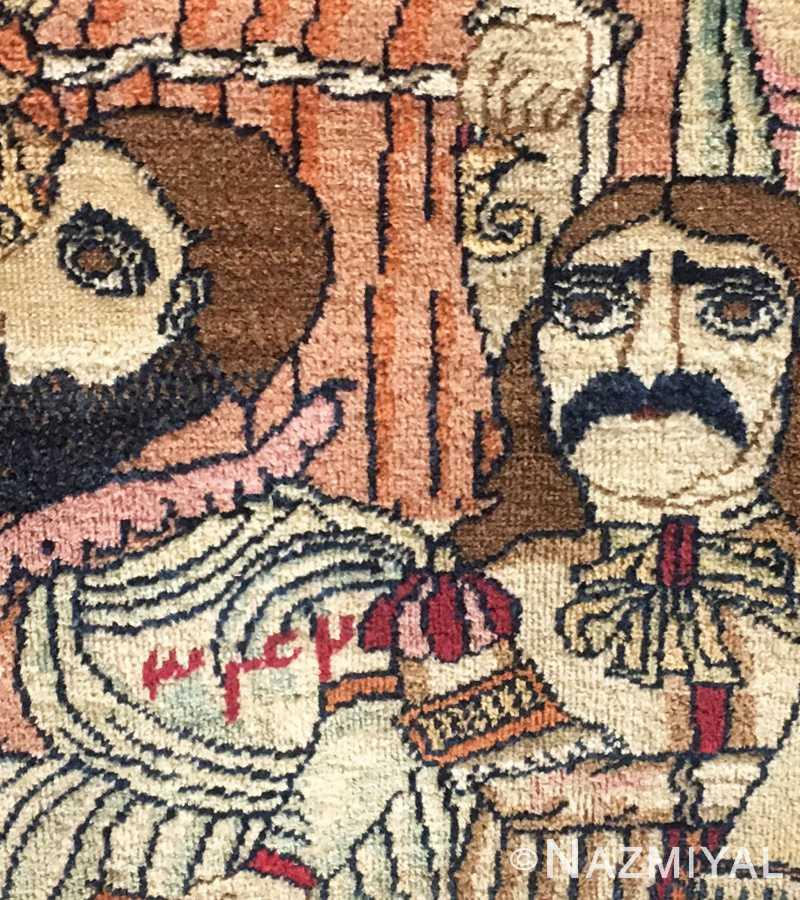 Antique Persian Kashan Rug 49063 Detailed 5