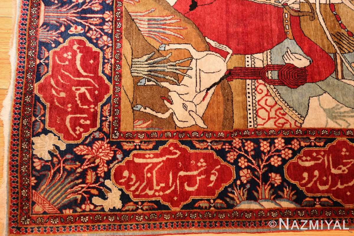 antique persian mohtasham kashan rug 49062 corner Nazmiyal