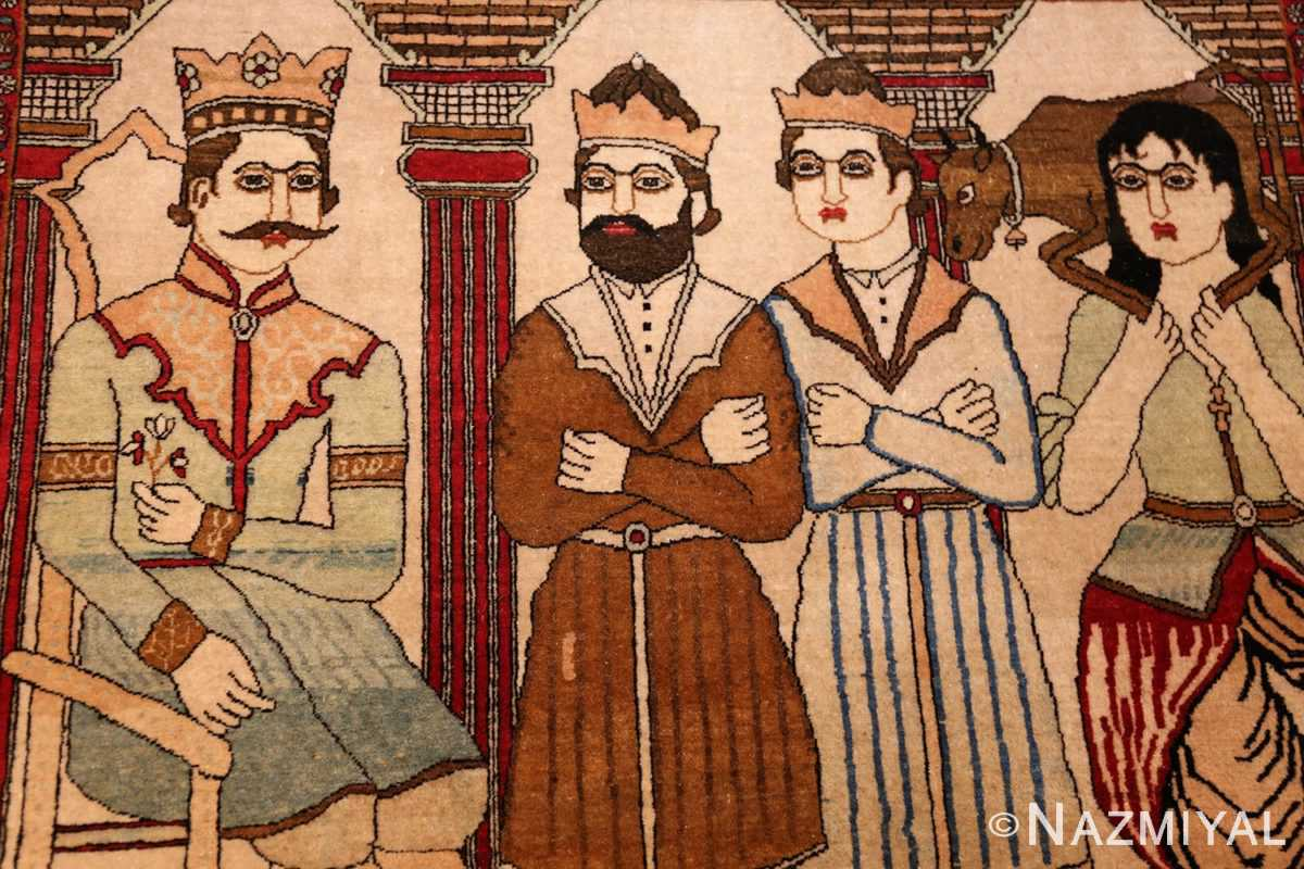 antique persian mohtasham kashan rug 49062 entourage Nazmiyal