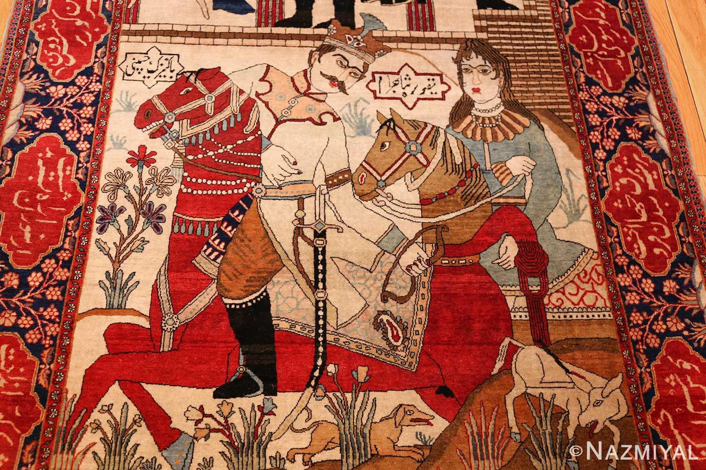 antique persian mohtasham kashan rug 49062 field Nazmiyal