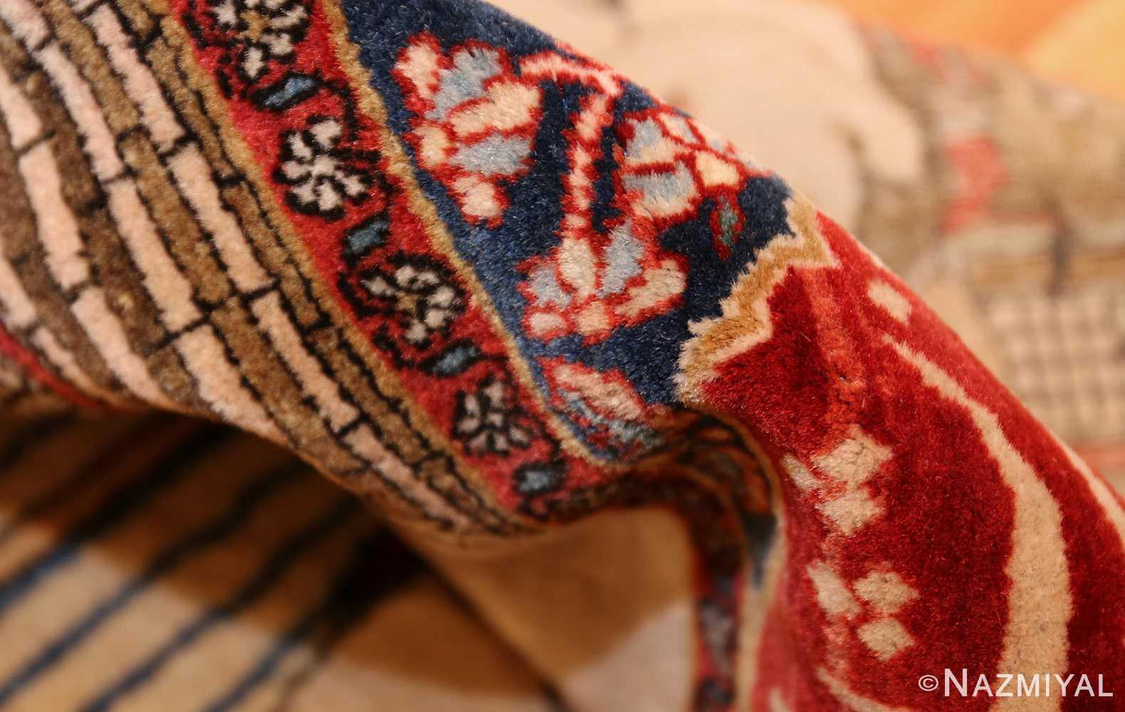 antique persian mohtasham kashan rug 49062 pile Nazmiyal