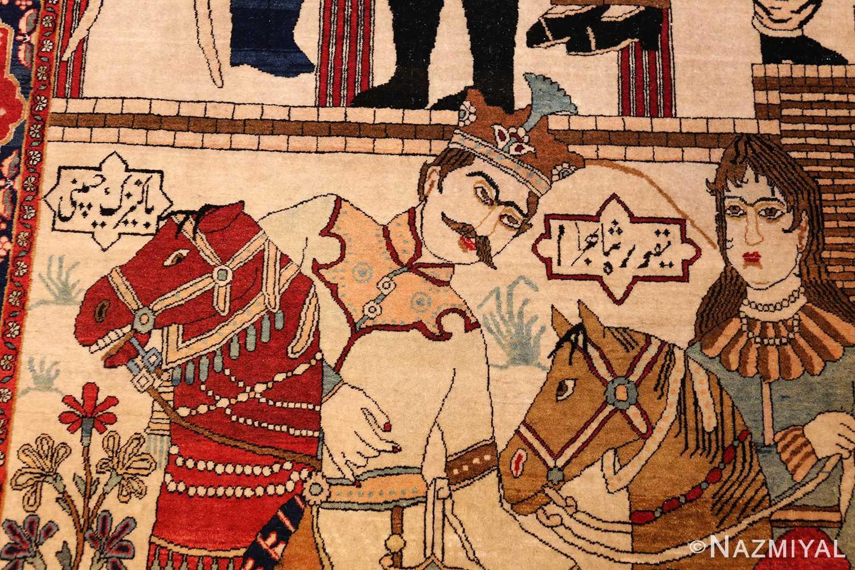 antique persian mohtasham kashan rug 49062 shah Nazmiyal
