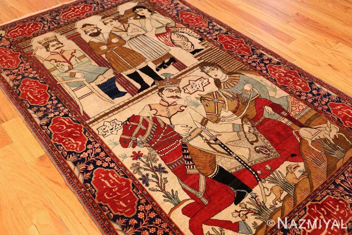 antique persian mohtasham kashan rug 49062 side Nazmiyal