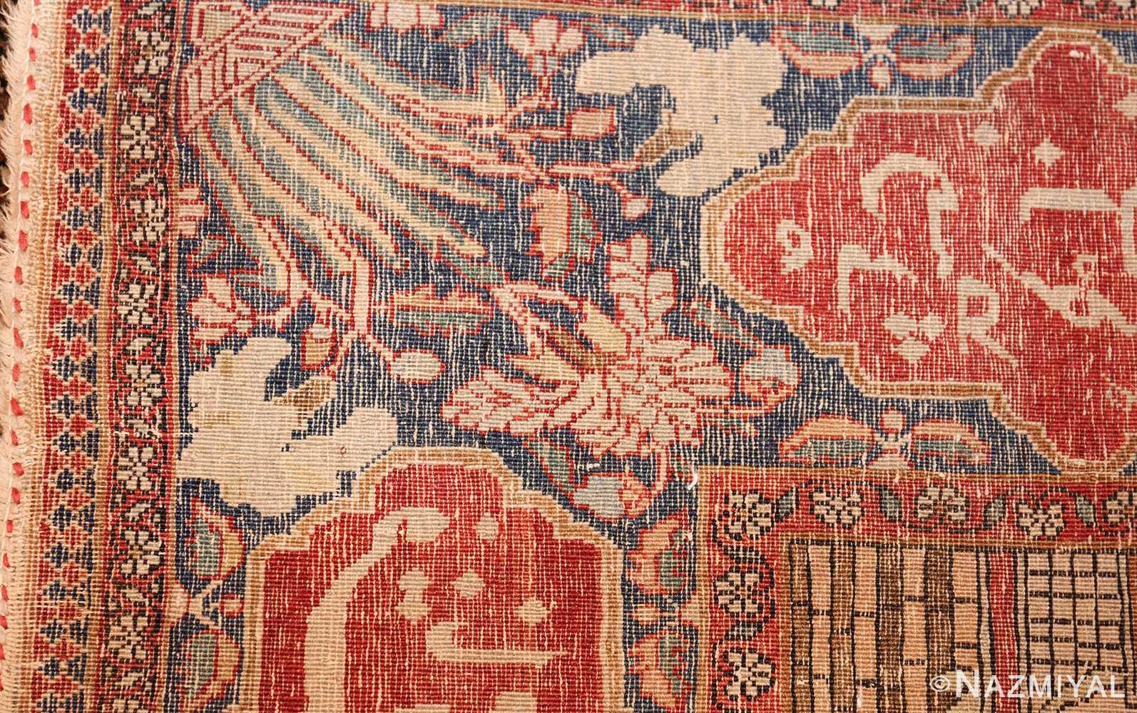 antique persian mohtasham kashan rug 49062 weave Nazmiyal