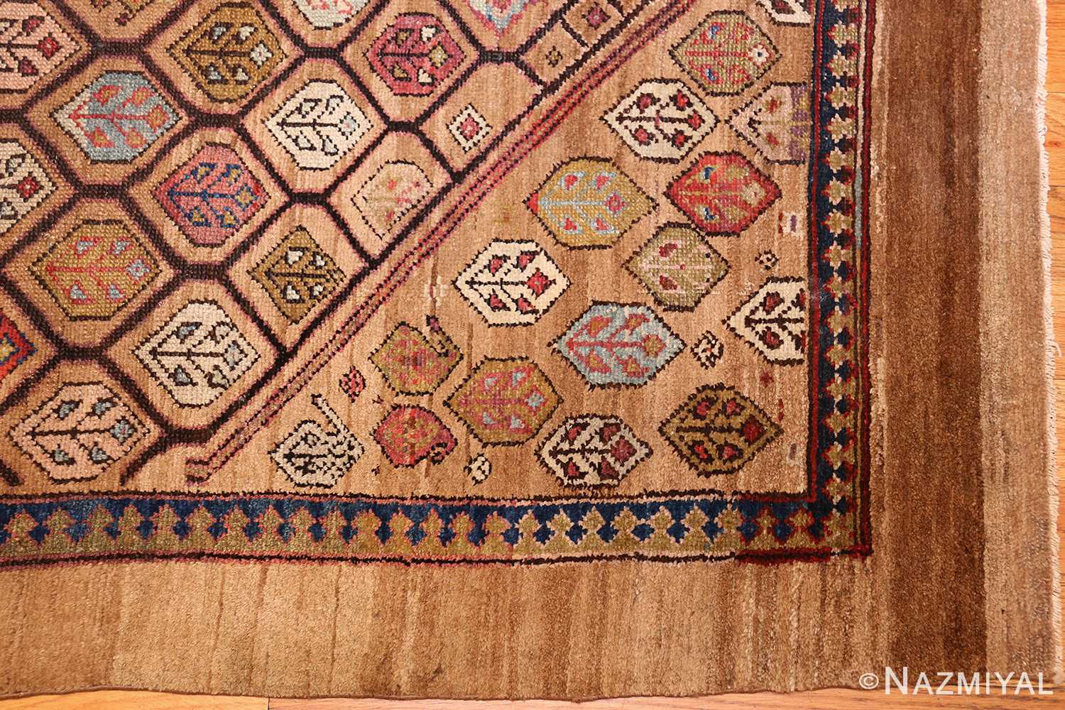 antique persian serab rug 50699 corner Nazmiyal