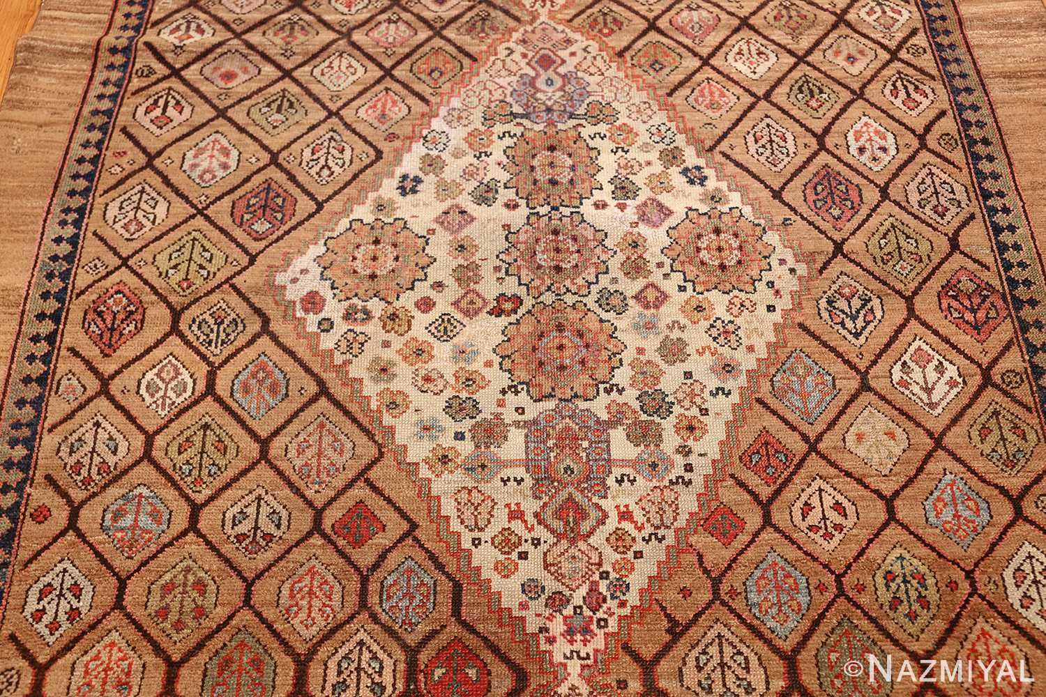 antique persian serab rug 50699 medallion Nazmiyal