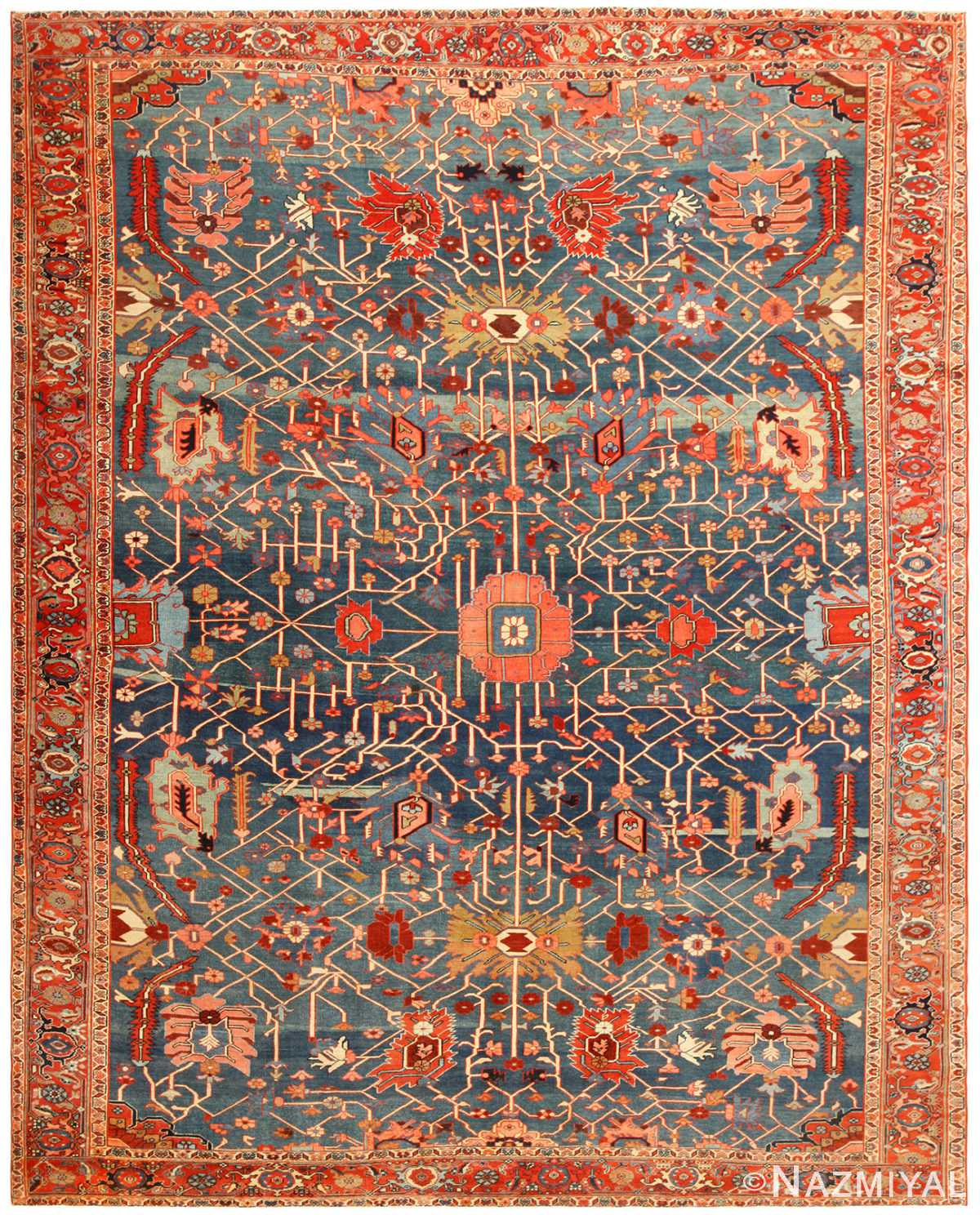 Antique Persian Serapi Rug 49080